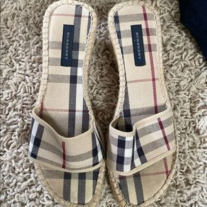 Authentic Burberry canvas Mules